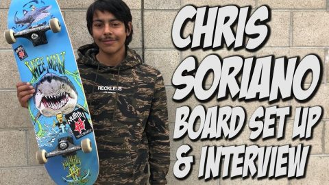 CHRIS SORIANO BOARD SET UP AND INTERVIEW !!! - Nka Vids Skateboarding