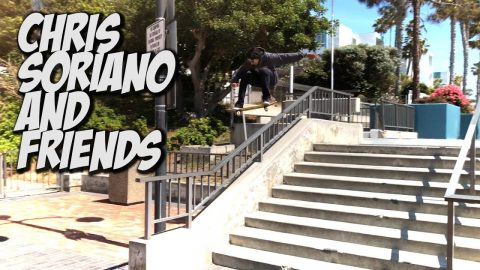 CHRIS SORIANO & NEW SKATERS ALL DAY SKATING !!! - NKA VIDS - - Nka Vids Skateboarding