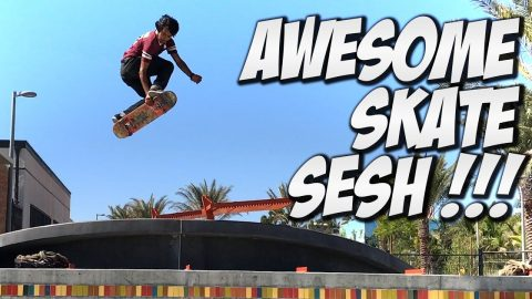 CHRIS SORRIANO AND IRIS GALVAN SKATE SESH !!! - A DAY WITH NKA - Nka Vids Skateboarding