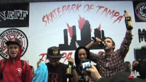 Clips From The Moat: Nyjah and P Rod - Tampa Pro 2010 | Skatepark of Tampa