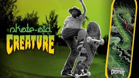Cody Lockwood puts the New LTD Edition Creature x skate-aid deck to the test! | Creature Skateboards