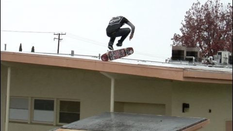 Cody McEntire Nollie Big Heel Roof to Roof in The Rain Raw Cut - E. Clavel