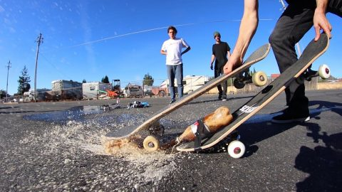 COKE AND MENTOS PROPELLED SKATEBOARD EXPERIMENT - Braille Skateboarding