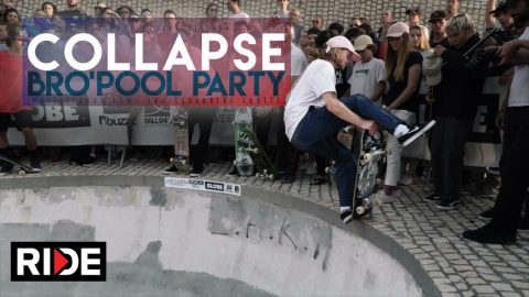 cOLLAPSe sKATEBOARDs Bro'Pool Party - RIDE Channel