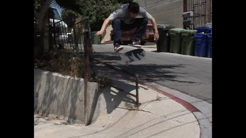 Cookie Kickflip Over Rail Into Hill Bomb Raw Cut | E. Clavel