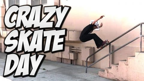 CRAZY DAY WITH PETER VILLALBA AND FRIENDS !!! - A DAY WITH NKA - Nka Vids Skateboarding