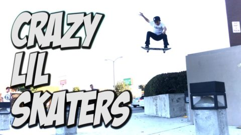 CRAZY LIL SKATER KIDS !!! - A DAY WITH NKA - - Nka Vids