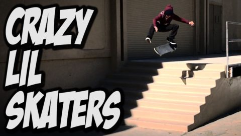 CRAZY LIL SKATER KIDS STRIKE AGAIN !!! - A DAY WITH NKA - - Nka Vids Skateboarding
