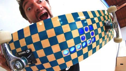 CUSTOM BRAILLE LED SKATEBOARD! | YOU MAKE IT WE SKATE IT EP 115 - Braille Skateboarding
