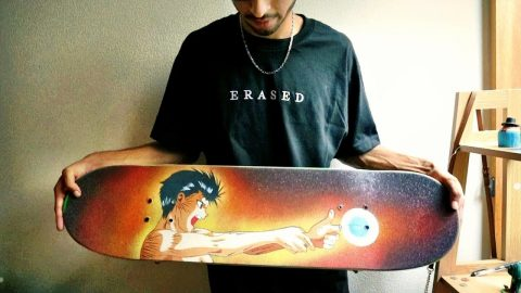 CUSTOM GRIPTAPE SKATEBOARD SET UP | Luis Mora