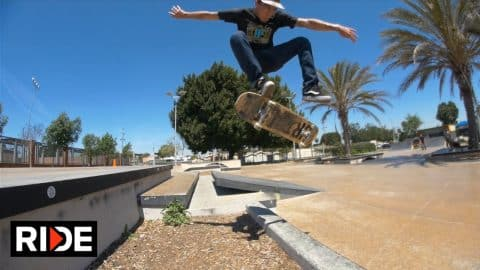 Danny Gordon at Harvard Park - Skatepark Check - RIDE Channel