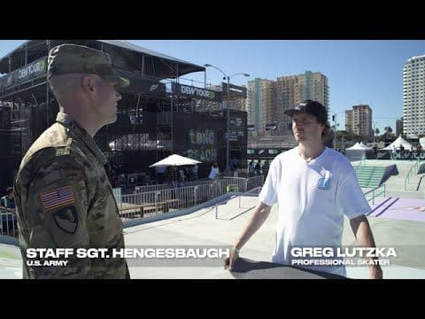 Darkstar Pro Greg Lutzka and Staff Sergeant Hengesbaugh Talk Performance - Dew Tour