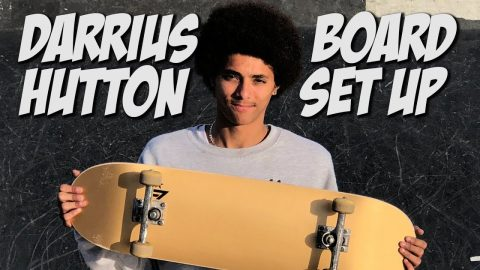 DARRIUS HUTTON BOARD SET UP AND INTERVIEW !!! - Nka Vids Skateboarding