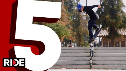David Reyes' Five Favorite Handrail Tricks - RIDE Channel