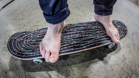 Deadly Barbed Wire Skateboard | Braille Skateboarding