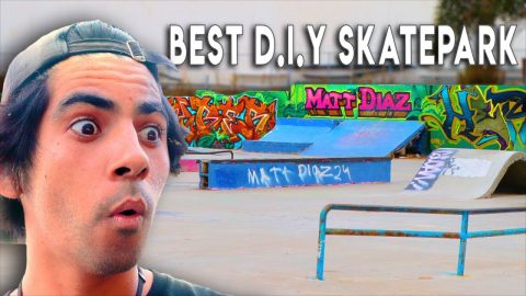 DESTROYING THE WORLD'S BEST DIY SKATEPARK?! | Braille Skateboarding