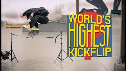 Did Jake Hayes Just Do The World's Highest Kickflip? | The Berrics