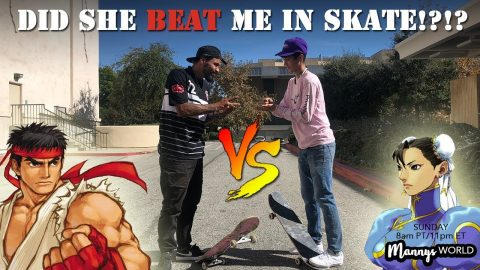Did she beat me in SKATE?! - MannysWorld