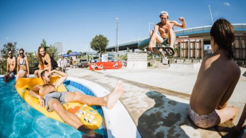 DIY Pool Party Unites Local Skate Crews in Vienna - Red Bull