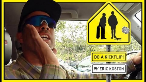 """Do A Kickflip"" With Eric Koston In Glendale, California 