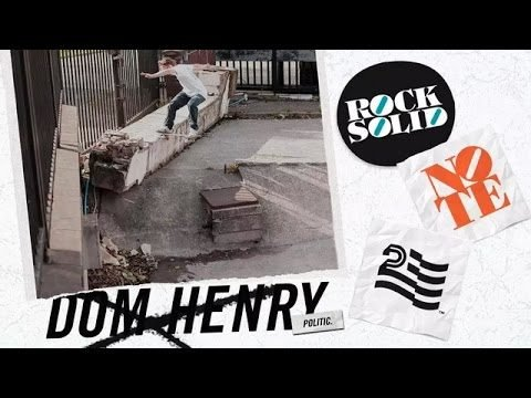 Dom Henry for Politic Note Skate Shop - Politic Brand