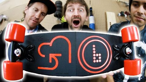 DON'T BREAK THE 3D PRINTED BOARD!? - Braille Skateboarding
