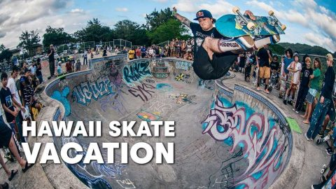 Drop In On The North Shore w/ Alex Sorgente, Chris Russell & CJ Collins | HAWAII SKATE VACATION | Red Bull Skateboarding