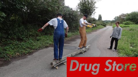 Drug Store Trowse D I Y - How to Continued part 1 - Five eyes Skateboarding