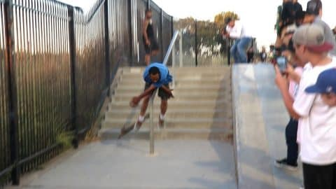 Drunk Guy At Skatepark... (SACKS RAIL) - Luis Mora