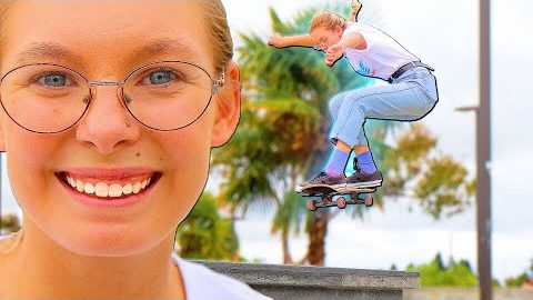 EMMA CONQUERS HER BIGGEST GAP CHALLENGE | Braille Skateboarding