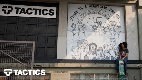 End Racism Mural by Artist Amiya McInnis - Tactics | Tactics Boardshop