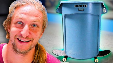 EPIC GARBAGE BIN SKATEBOARD FAIL! | Braille Skateboarding