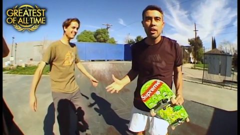 Eric Koston's Historic Backflip To 50-50 Grind | The Berrics