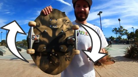 EXTREMELY DIFFICULT ROTATING SKATEBOARD   YOU MAKE IT WE SKATE IT EP 62