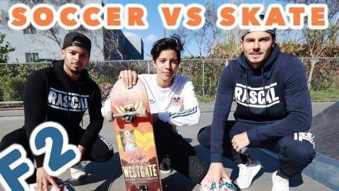 F2 SOCCER VS SKATE TRICK SHOTS - Chris Chann