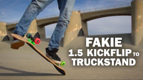 Fakie 1.5 Kickflip to Truckstand: Sto Strouss || ShortSided - Brett Novak