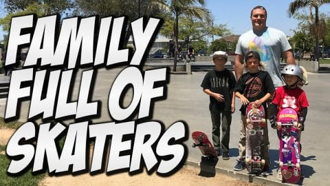 FAMILY FULL OF SKATERS !!!! - A DAY WITH NKA - - Nka Vids Skateboarding