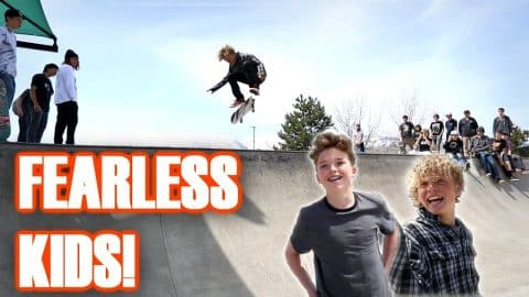 FEARLESS 13 & 14 YEAR OLD SKATERS! - Luis Mora