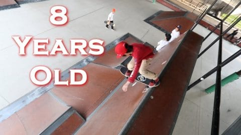 FEARLESS 8 YEAR OLD JAPAN SKATER - Luis Mora