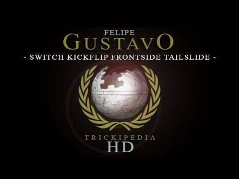 Felipe Gustavo: Trickipedia - Switch Kickflip Frontside Tailslide - The Berrics