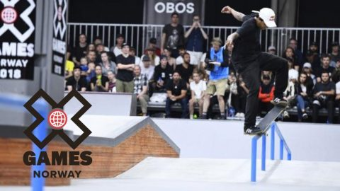 Felipe Gustavo wins Men's Skateboard Street bronze | X Games Norway 2018 - X Games