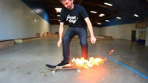 FLAMING SKATEBOARD GAME OF SKATE! - Braille Skateboarding