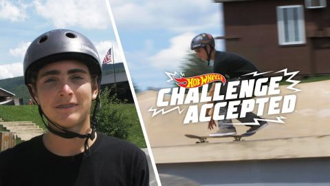 Frontside Flip The 4 Block - Hot Wheels Challenge Accepted | Woodward
