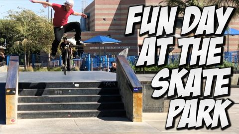 FUN DAY AT WESTCHESTER !!! - A DAY WITH NKA - - Nka Vids Skateboarding