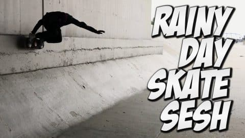 FUN RAINY SKATE DAY ??? - A DAY WITH NKA - - Nka Vids Skateboarding