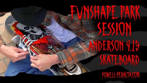 """'Funshape Park Session' - @Andy Anderson 9.13"""" Skateboard 