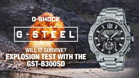 G-SHOCK explosion test with the GST-B300SD | G-STEEL | #NeverGiveUp | G-SHOCK Europe