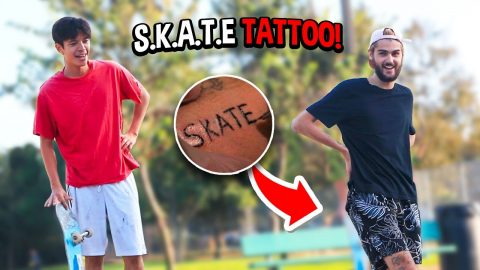 Game of S.K.A.T.E but LOSER Gets A TATTOO... | Chris Chann