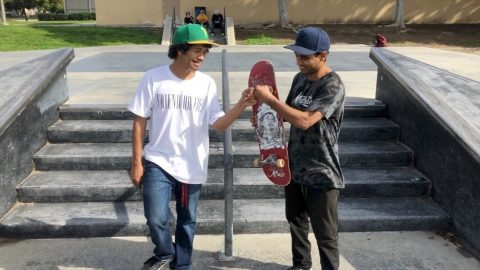 GAME OF SKATE OFF SOUTH PARK 5 STAIR! | Vinh Banh