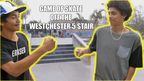 GAME OF SKATE OFF THE WESTCHESTER 5 STAIR!!! - Vinh Banh